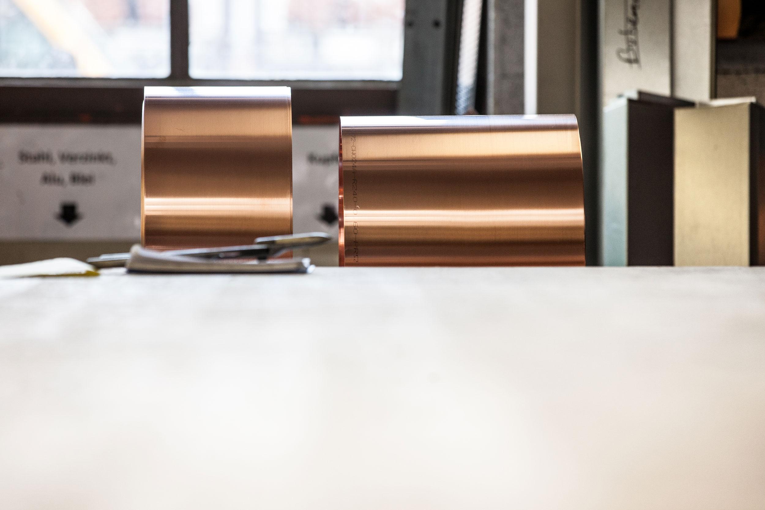 Metallbekleidete Stirnblenden und Ortbretter der Firma Boehi + Wirz AG.